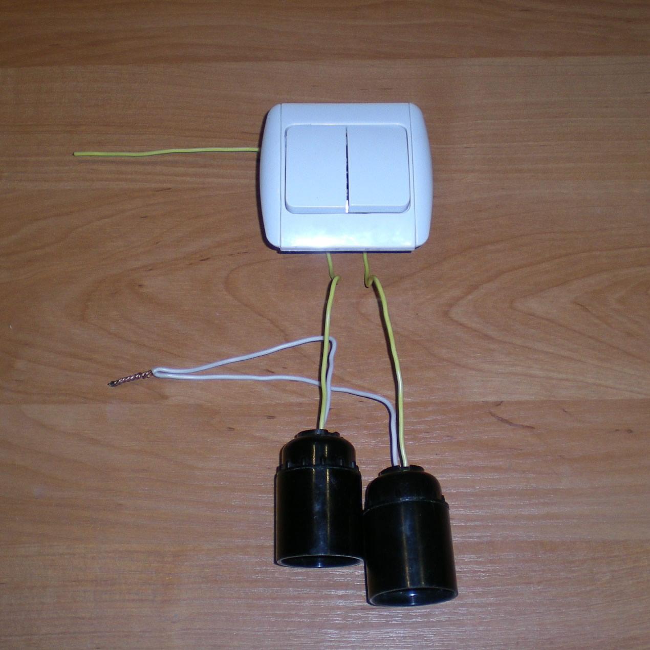 2 лампы на один выключатель схема фото 936